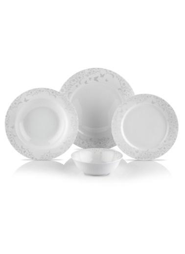Schafer 24 Prç. Ottomane Yemek Takımı - Beyaz Beyaz